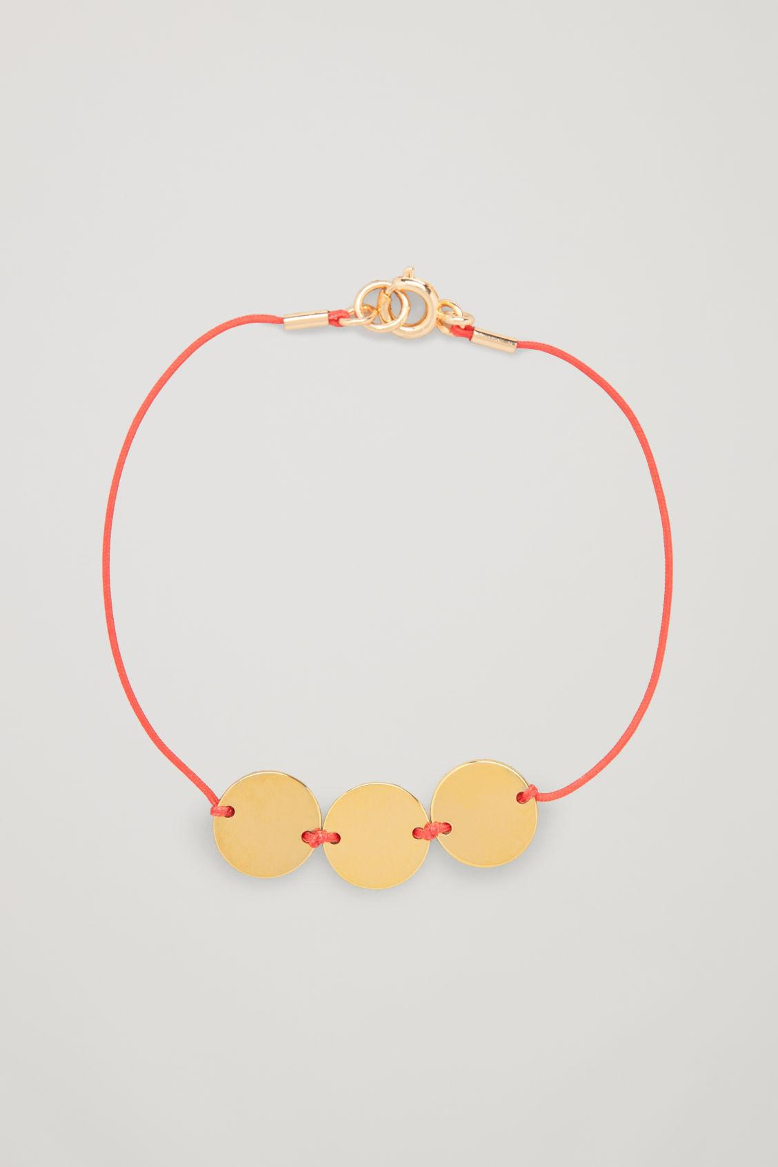 Cos Thea Thread Bracelet In Red