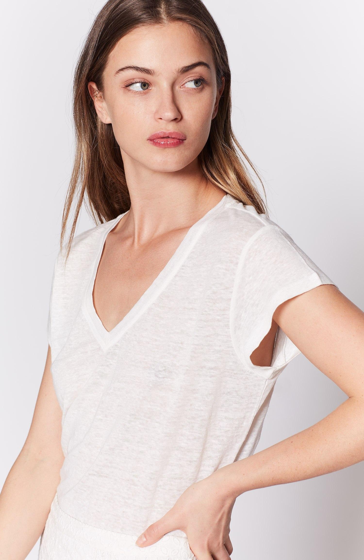 Joie Araceli T-shirt In Porcelain