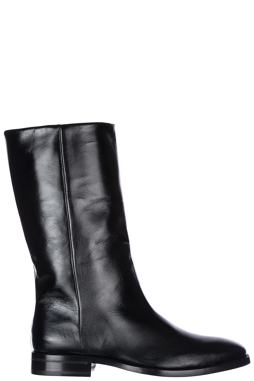 Saint Laurent Women's Leather Heel Ankle Boots Booties In Black