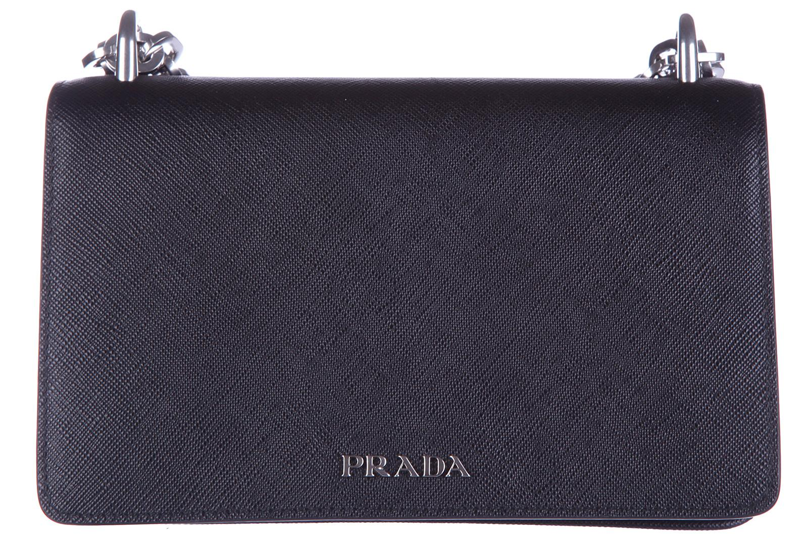 Prada Women's Leather Shoulder Bag In Black