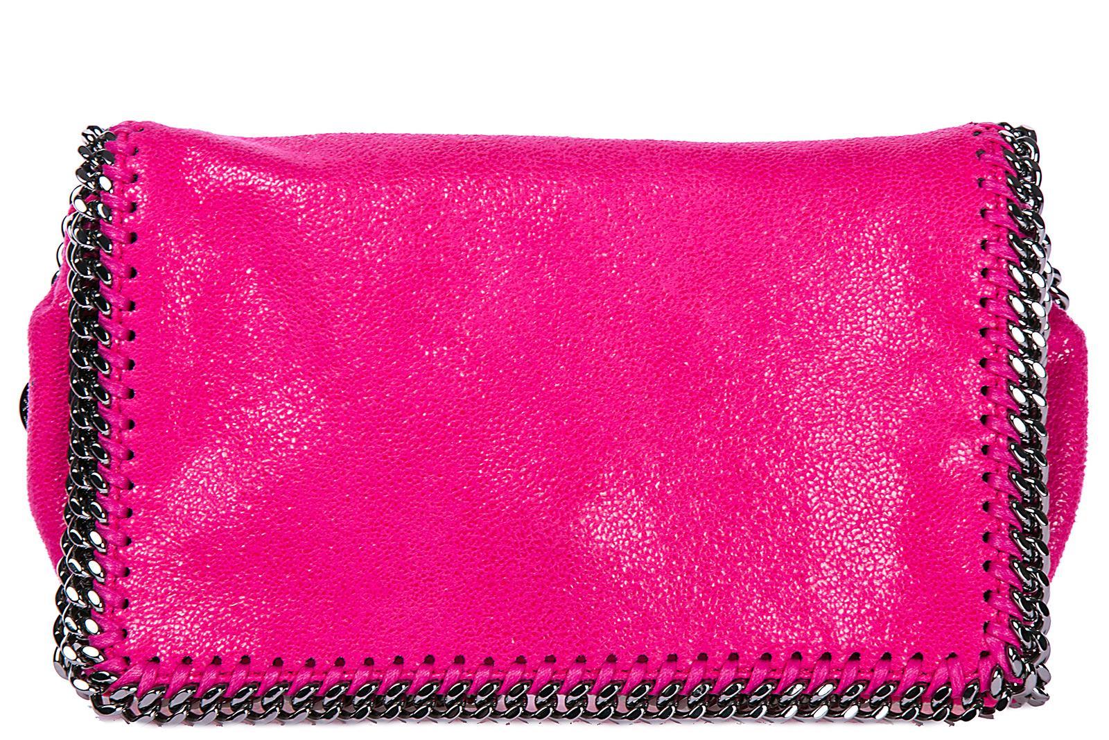 Stella Mccartney Women's Cross-body Messenger Shoulder Bag  Falabella Shaggy Deer In Pink