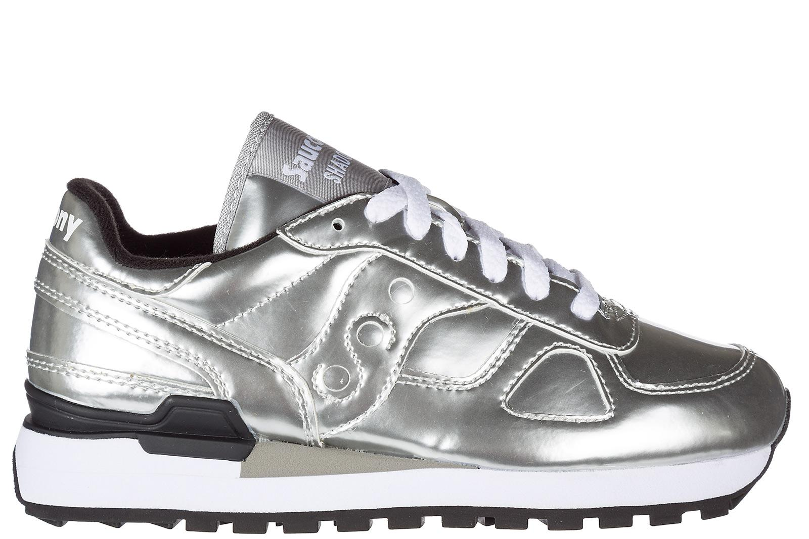 Saucony Women's Shoes Leather Trainers Sneakers Shadow In Silver