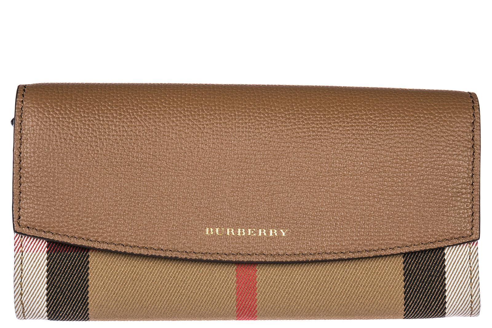 Burberry Women's Wallet Coin Case Holder Purse Card Bifold In Brown