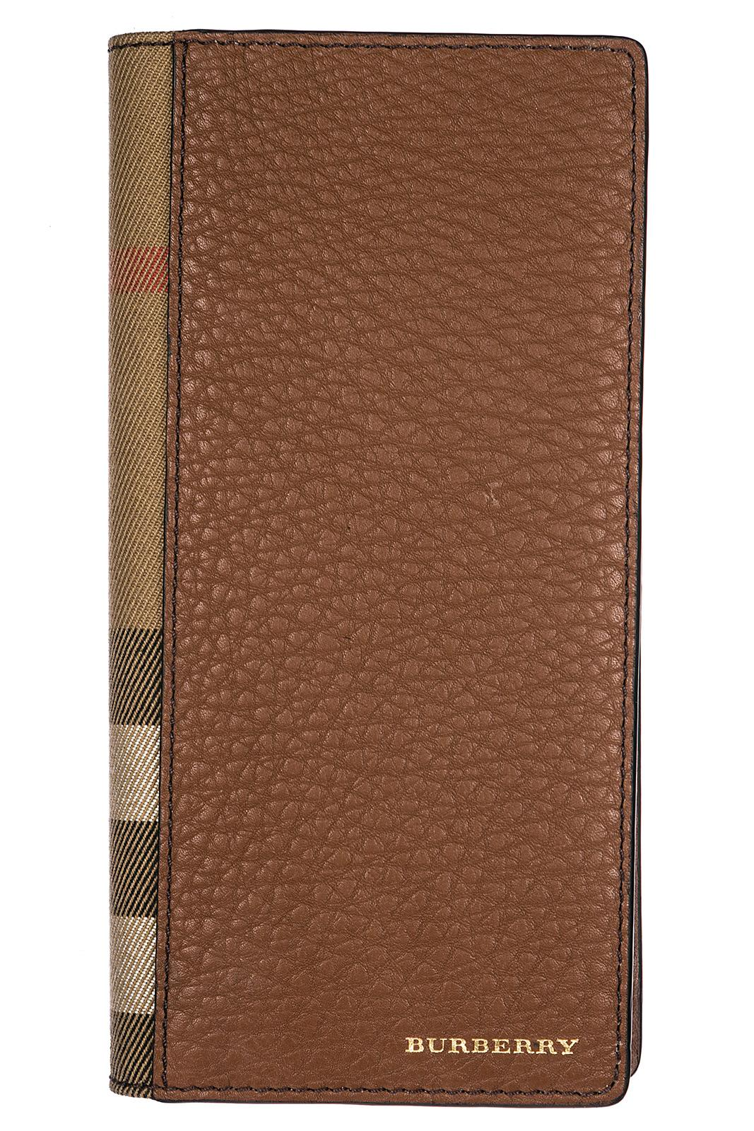 Burberry Men's Genuine Leather Wallet Credit Card Bifold  Cavendish In Brown