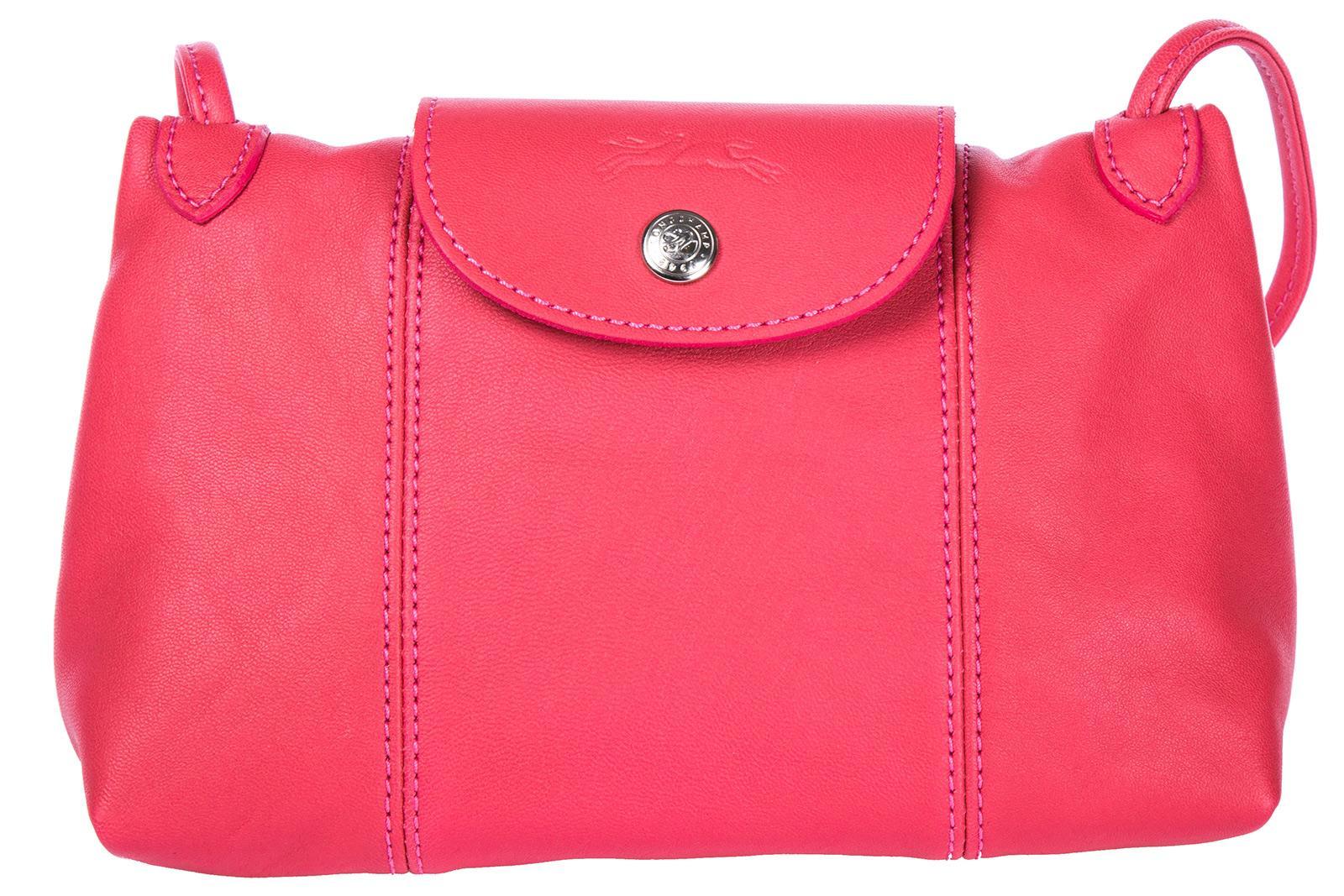 Longchamp Women's Leather Cross-body Messenger Shoulder Bag In Pink