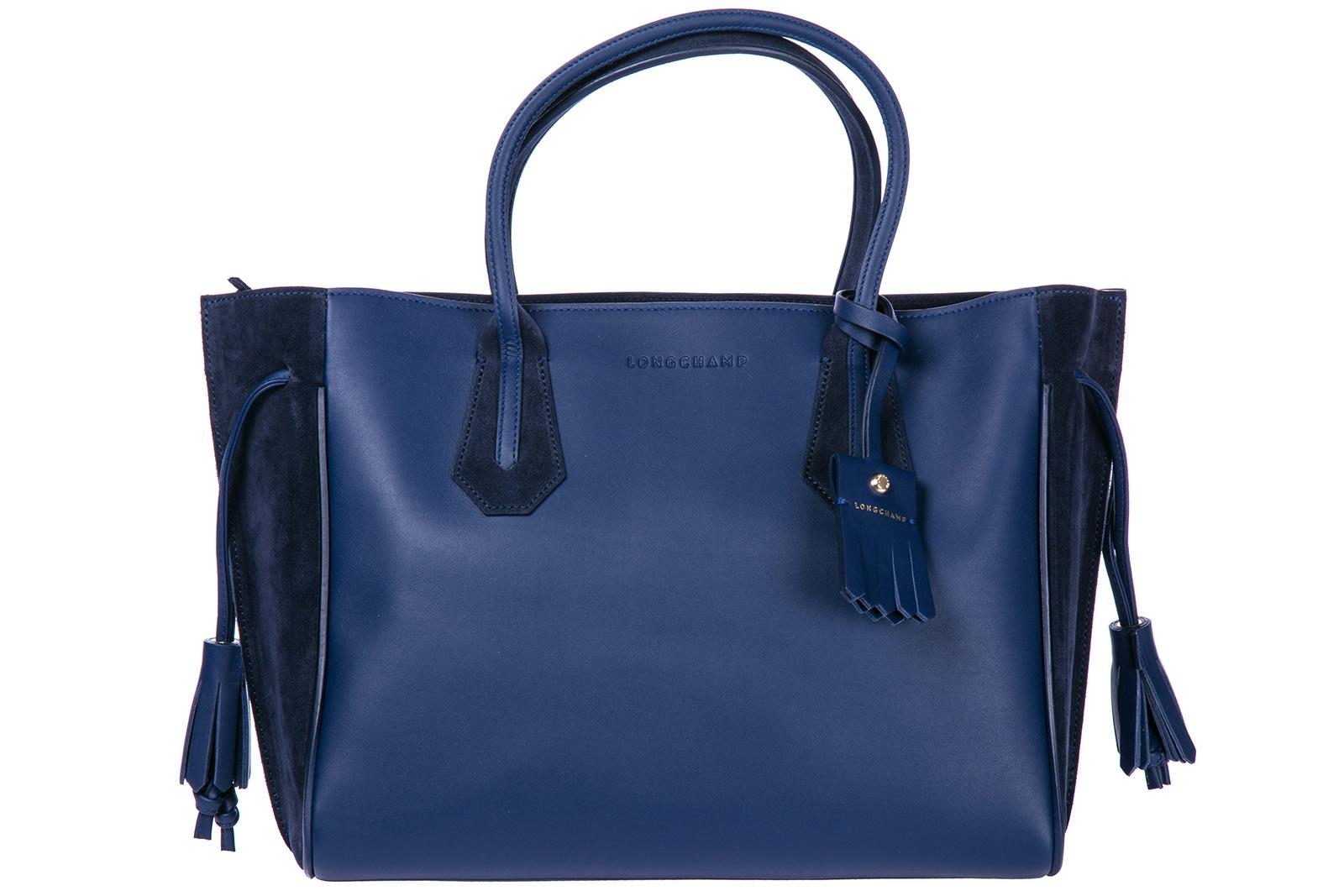Longchamp Women's Leather Shoulder Bag In Blue