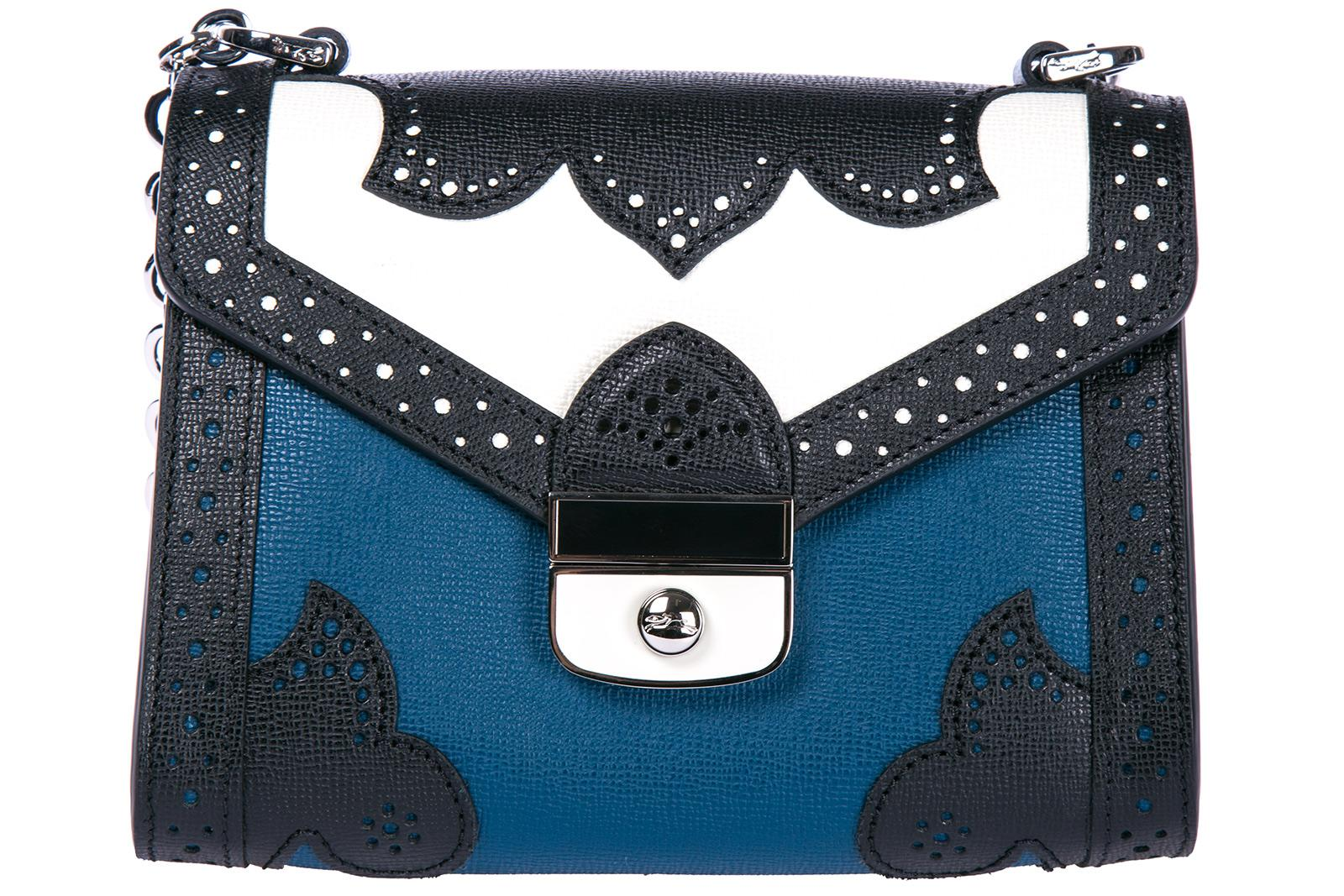 Longchamp Women's Leather Cross-body Messenger Shoulder Bag In Blue