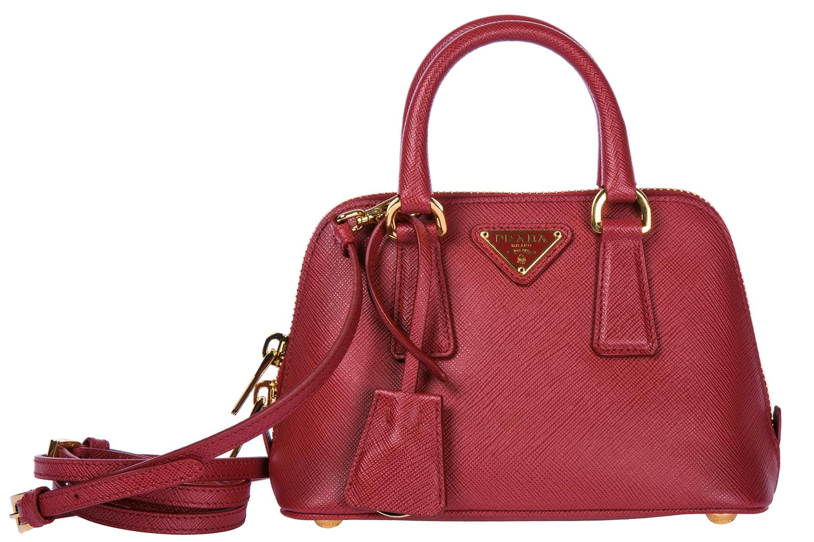 Prada Women's Leather Cross-body Messenger Shoulder Bag In Red