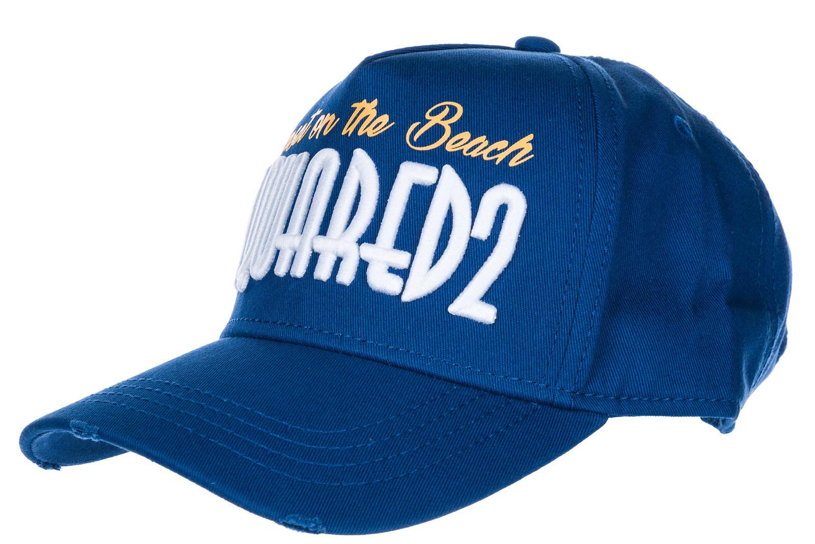 Dsquared2 Adjustable Men's Cotton Hat Baseball Cap Baseball In Blue