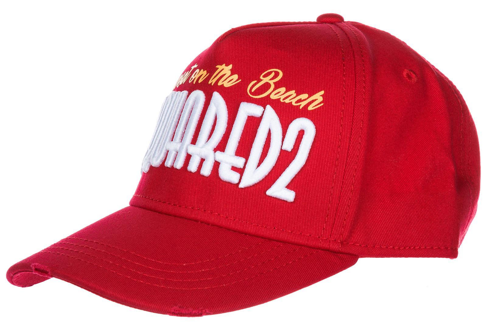 Dsquared2 Adjustable Men's Cotton Hat Baseball Cap Baseball In Red