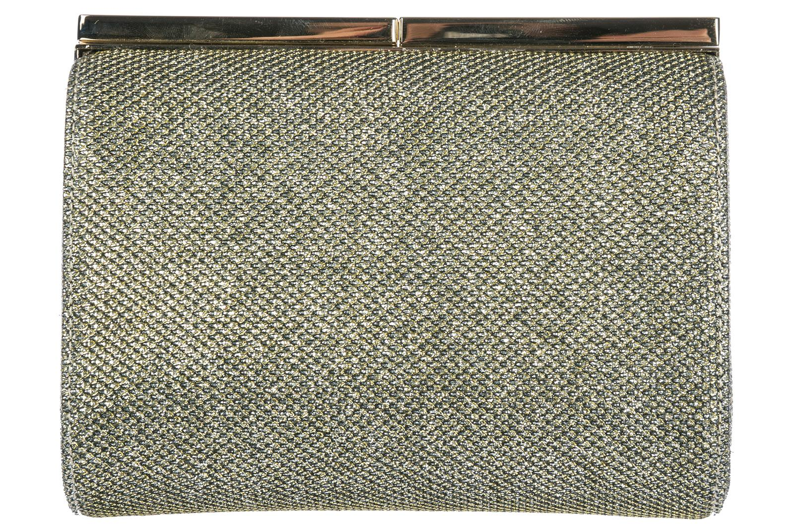 Jimmy Choo Women's Clutch Handbag Bag Purse In Gold