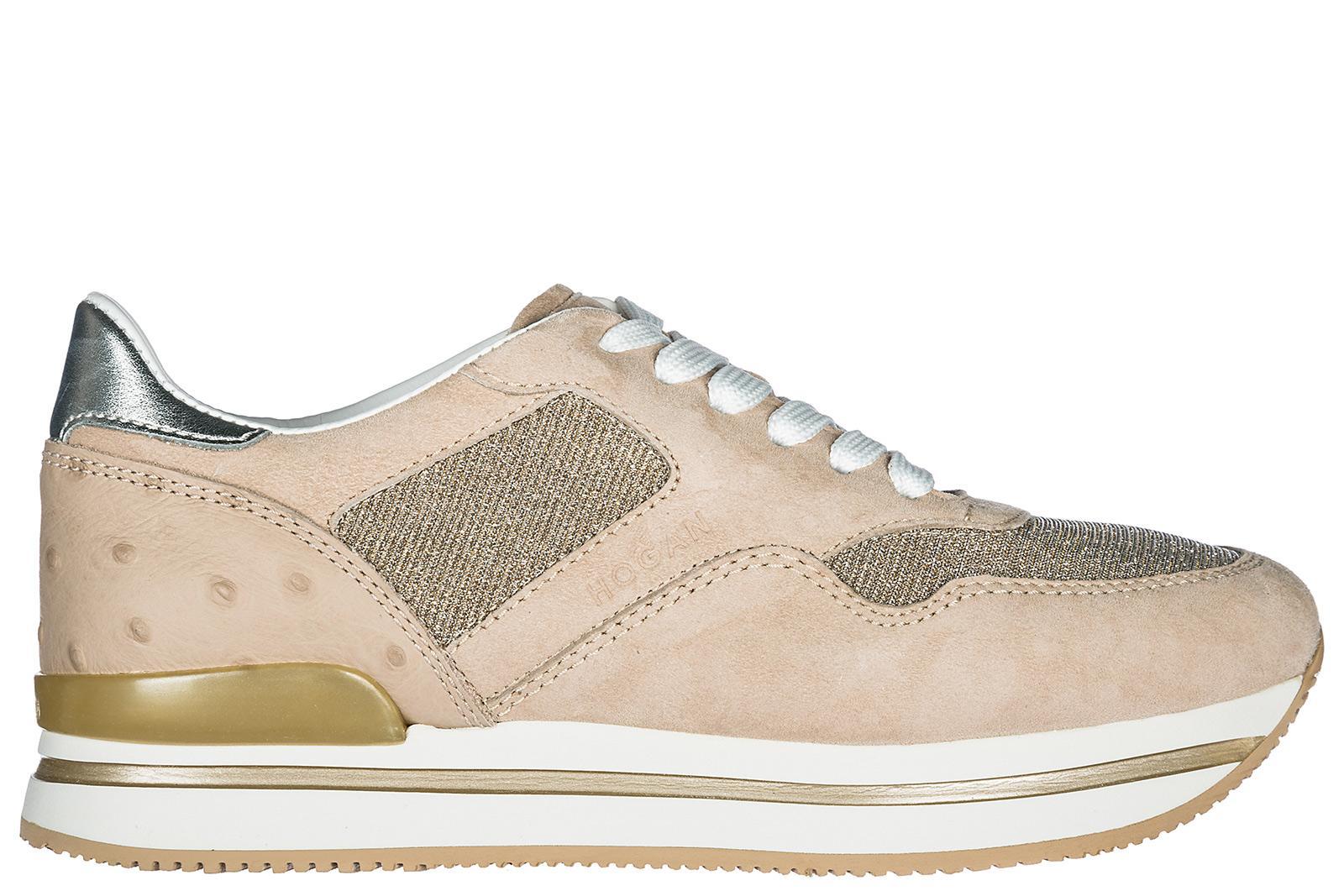 Hogan Damenschuhe Turnschuhe Damen Wildleder Schuhe Sneakers H222 In Beige