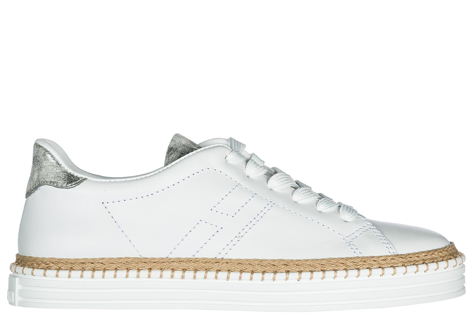 Hogan Women's Shoes Leather Trainers Sneakers R260 In White