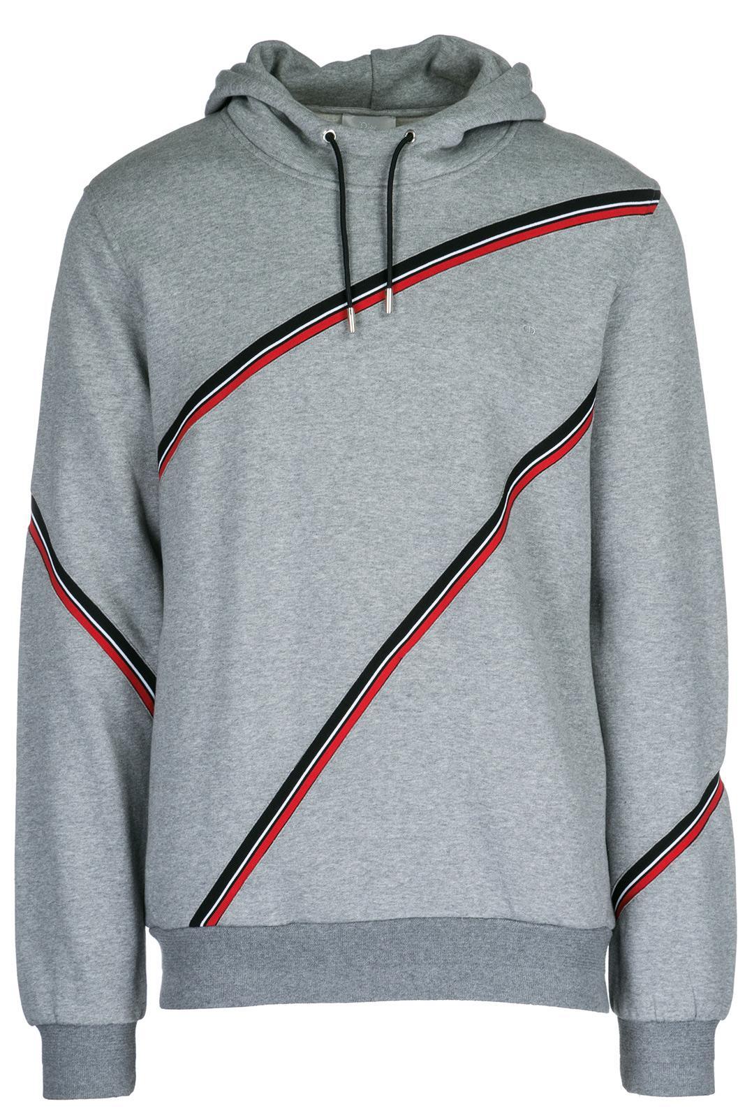 Dior Men's Hoodie Sweatshirt Sweat In Grey