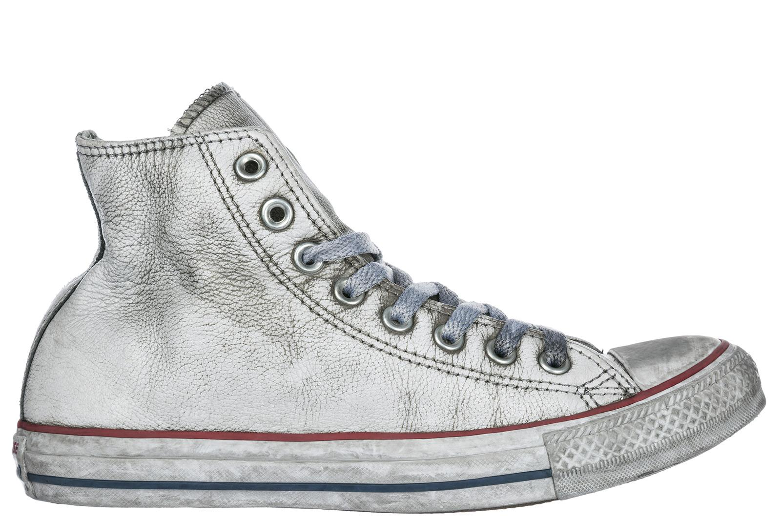 eddaa5d6c3bb Converse Men's Shoes High Top Leather Trainers Sneakers Limited Edition In  Grey