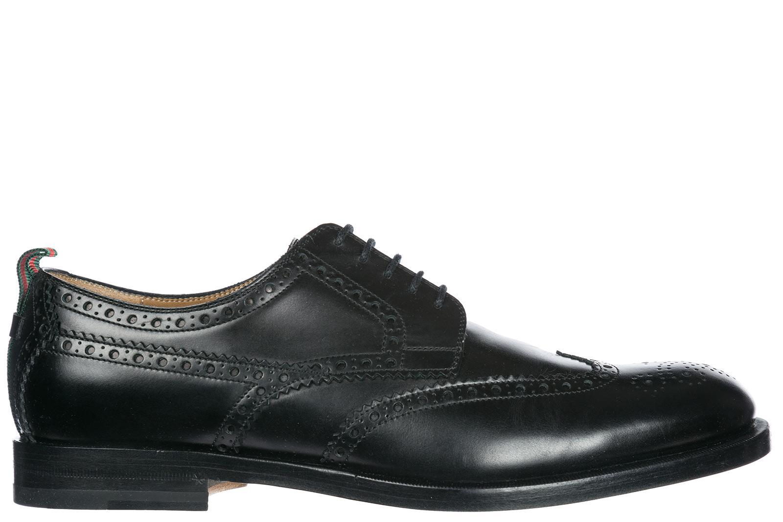 ecc3728e28da31 Gucci Herrenschuhe Leder Herren Business Schuhe SchnÜRschuhe Derby Brogue  In Black