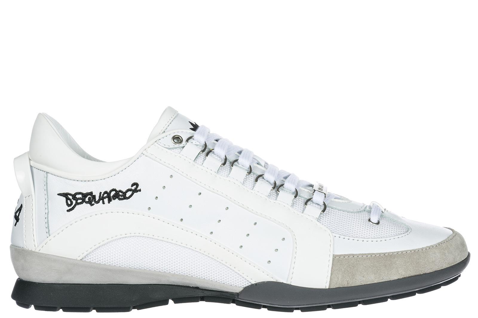 Herrenschuhe Herren Leder Schuhe Sneakers 551 In White