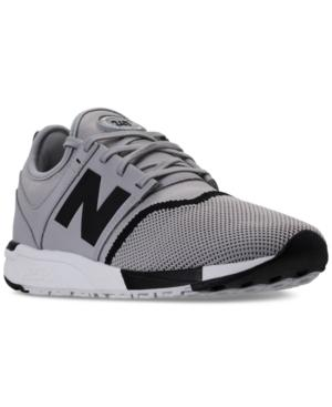 New Balance Men's 247 Casual Sneakers From Finish Line In Grey/black