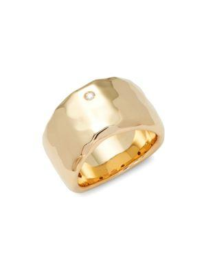 Roberto Coin Yellow Gold & Diamond Band Ring