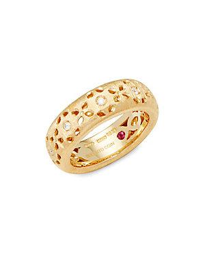 Roberto Coin 18k Yellow Gold & Diamonds Cut-out Granada Ring
