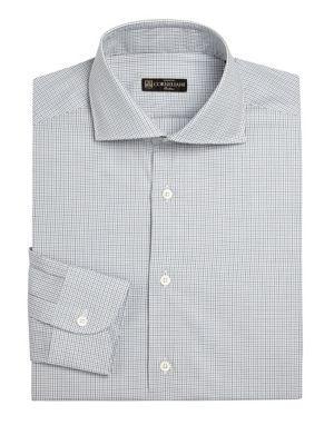 Corneliani Regular-fit Dress Shirt In Md Blue Fan
