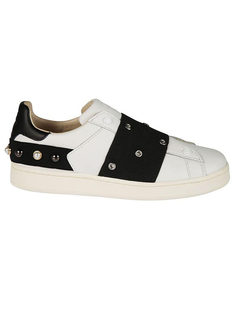 M.o.a. Master Of Arts Moa Multiple Eyelets Sneakers In White
