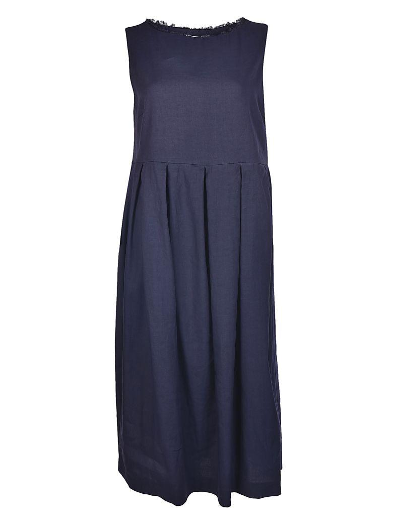 Fabiana Filippi Classy Plain Long Dress In Blue