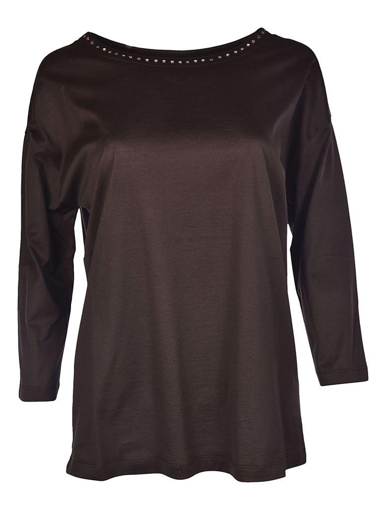 Fabiana Filippi Loose-fitting Blouse In Brown