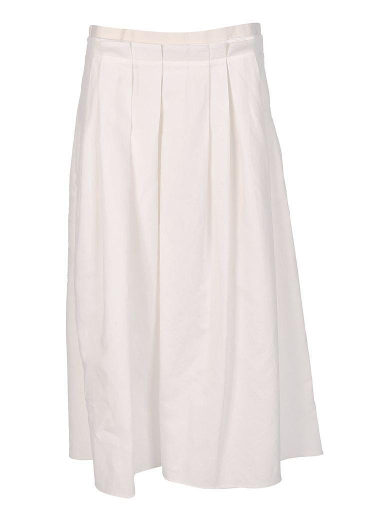 Fabiana Filippi Pleated Ruffle Maxi Skirt In Pink