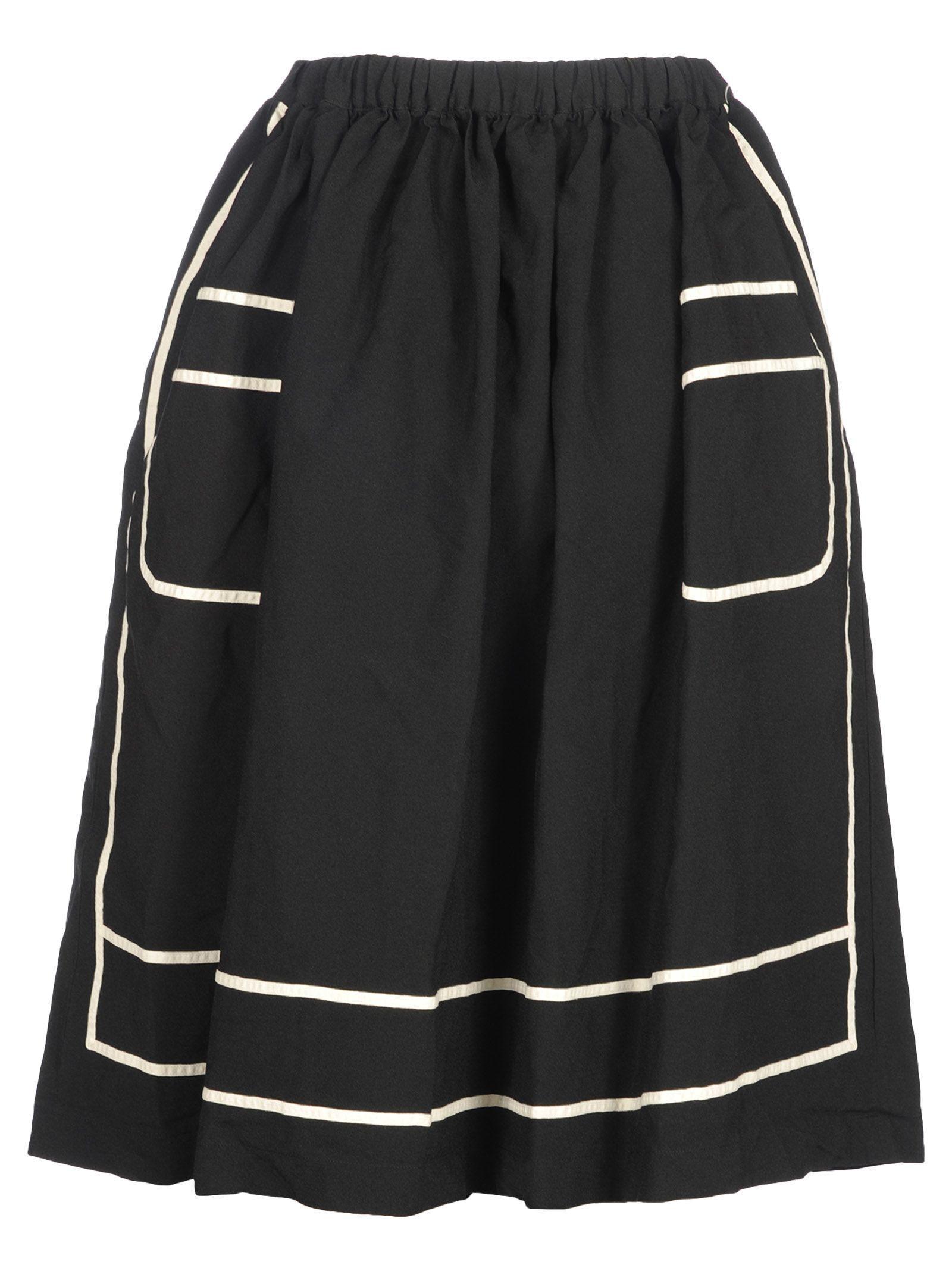 Comme Des GarÇons Comme Des GarÇons Skirt Contrast In Black