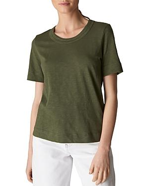 Whistles Rosa Double-trimmed Tee In Khaki