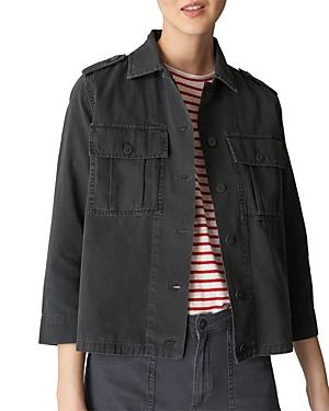 Whistles Cargo Jacket In Gray