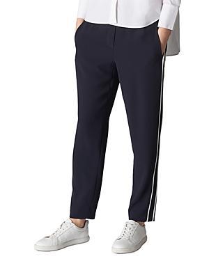 Whistles Elyse Side-stripe Pants In Navy