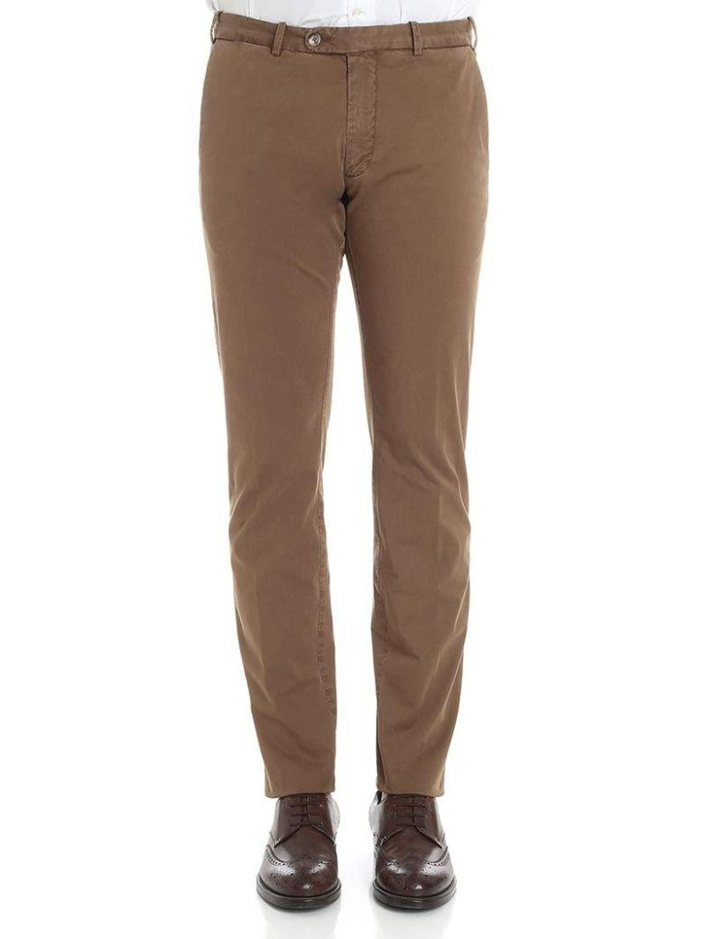 Luigi Borrelli Classic Pants In Brown