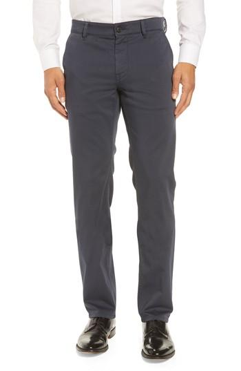 Hugo Boss Stretch Chino Pants In Blue