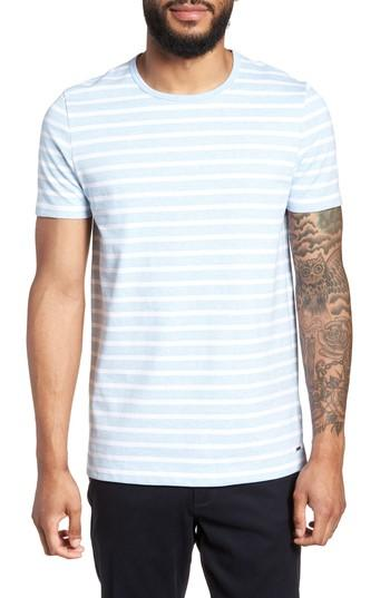 Hugo Boss Tessler Slim Fit Crewneck T-shirt In Blue