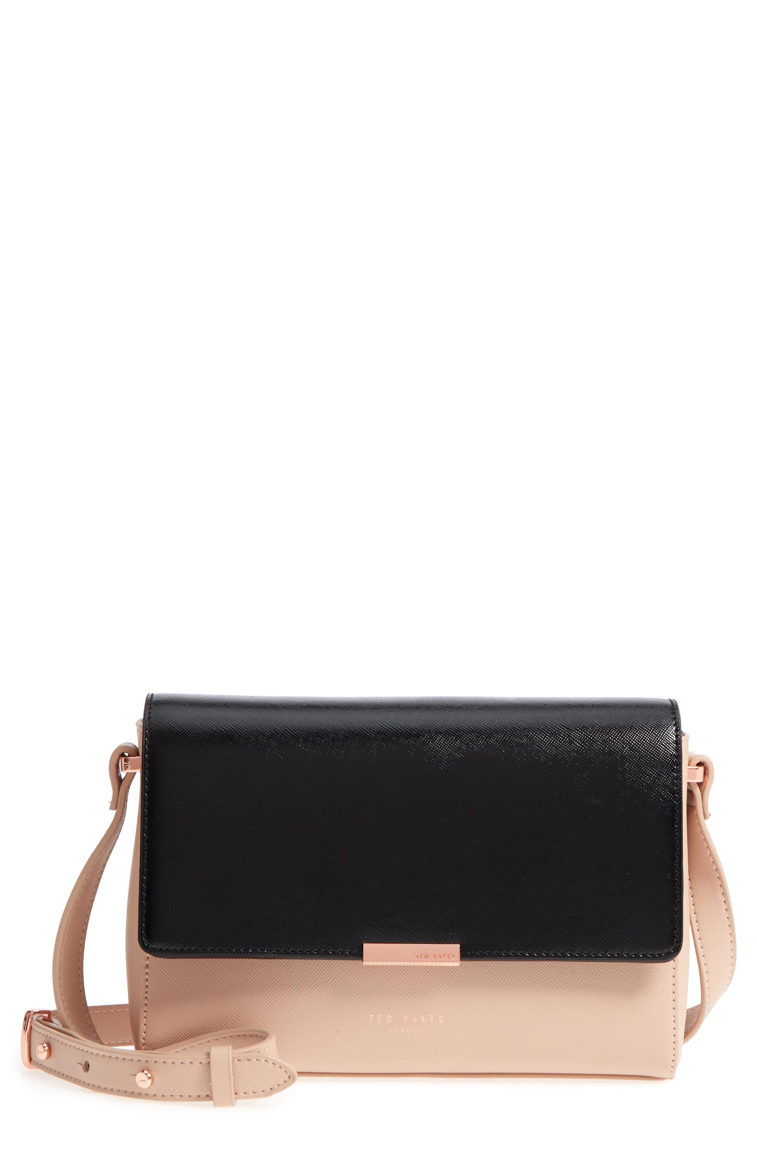 Ted Baker Demonda Faux Leather Crossbody Bag - Beige In Taupe  fe1de3e257316