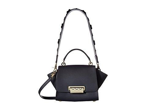 Zac Zac Posen Eartha Iconic Top-handle Crossbody With Floral Strap In Navy