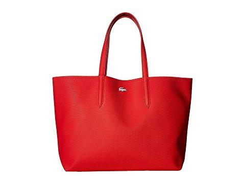 Lacoste Anna Large Reversible Shopping Bag In High Risk Rumba Red