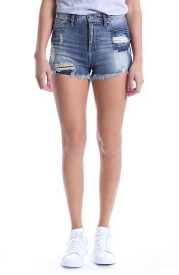 Kut From The Kloth Kut Kollection High Waist Ripped Denim Shorts In Debuted