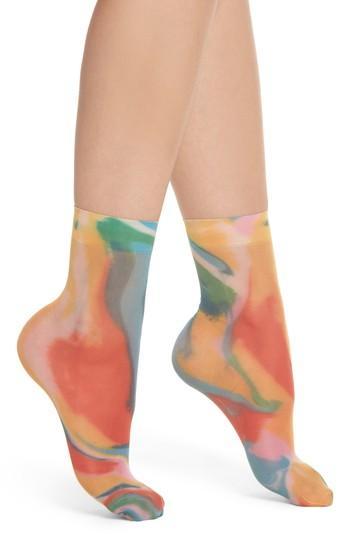 Hysteria By Happy Socks Mia Mosaic Socks In Assorted
