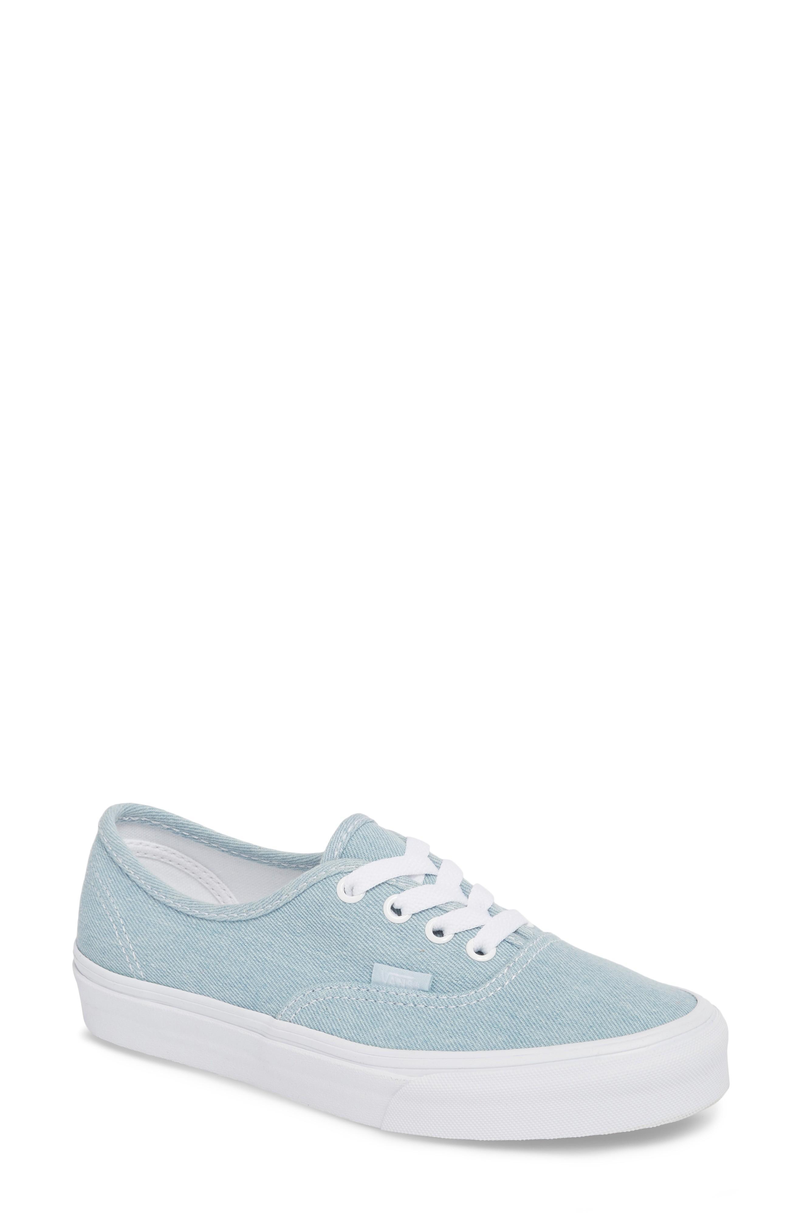 Vans 'authentic' Sneaker In Denim Baby Blue