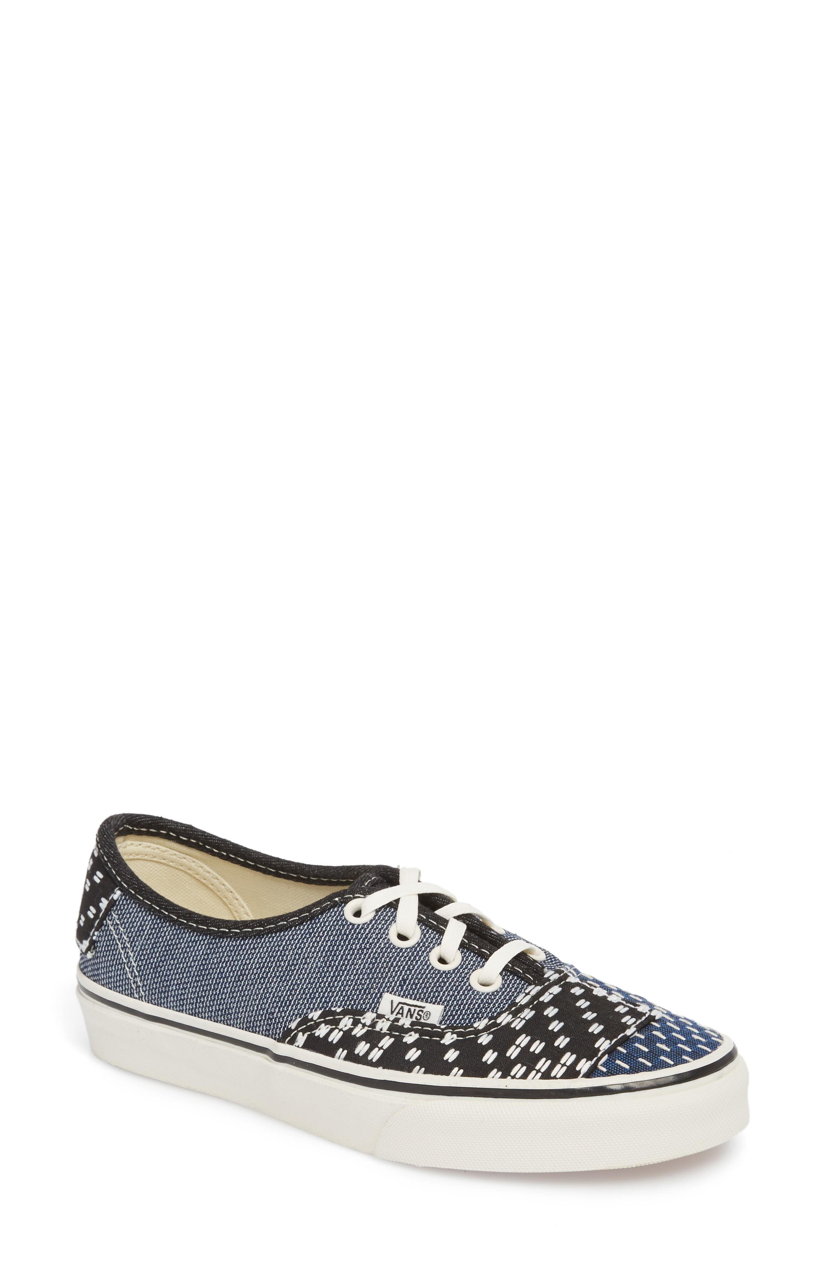 Vans 'authentic' Sneaker In Patchwork Denim