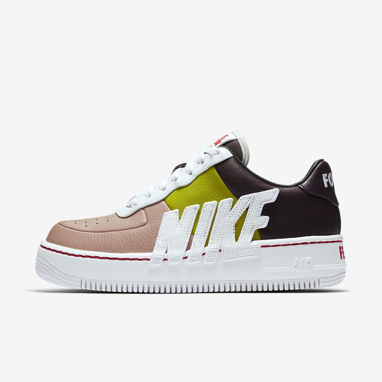 59d5ddb547 Nike Air Force 1 Upstep Lx Shoe In Port Wine/ White/ Cactus | ModeSens