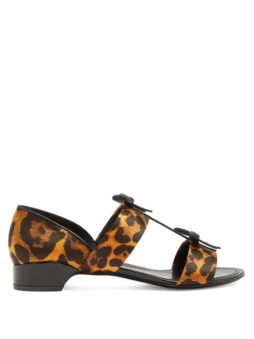 Fabrizio Viti Take A Bow Leopard-print Satin Sandals