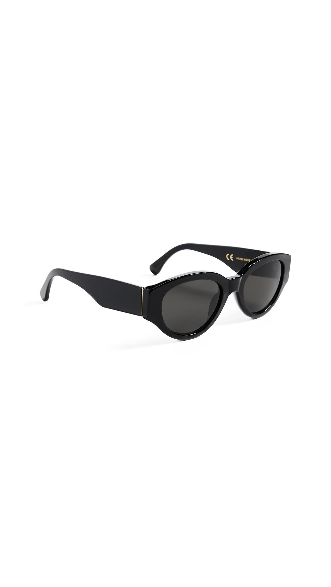 Super Sunglasses Drew Mama Sunglasses In Black/black