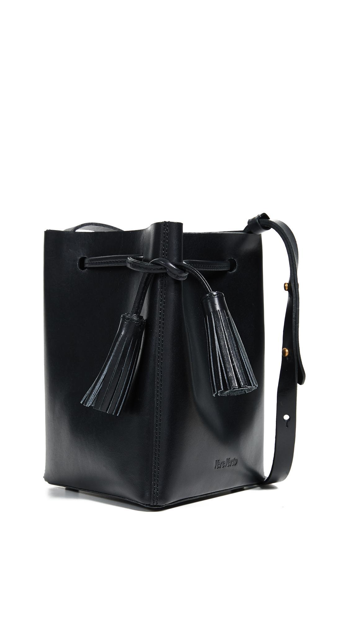 Vereverto Mini Tris Bucket Bag In Black