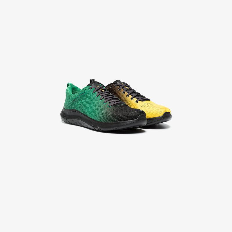 Hoka One One Green And Yellow Hupana 2 X Engineered Garments Sneakers In Yellow&orange
