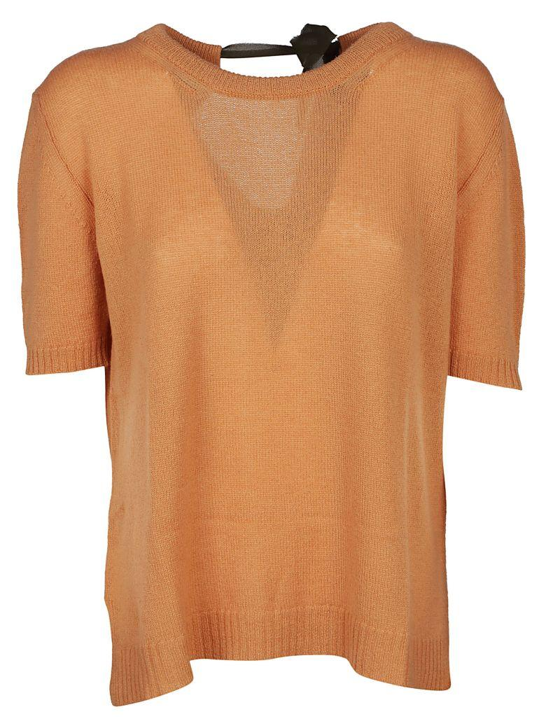 Roberto Collina Knitted T-shirt In Caramello