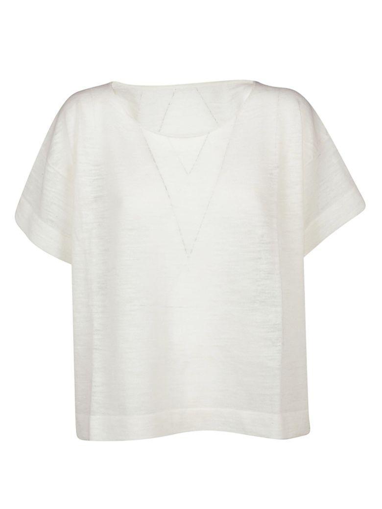 Roberto Collina Boxy T-shirt In Bianco